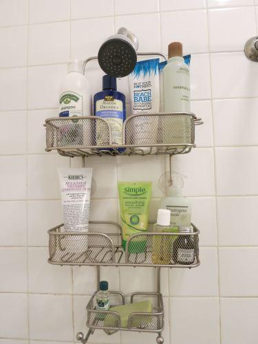 Shower caddy goodies