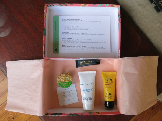 April 2015 Birchbox samples
