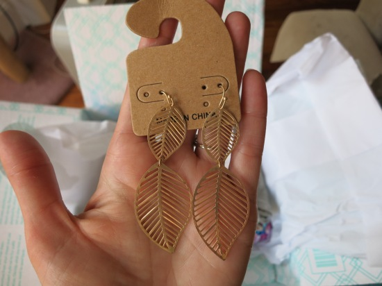 Bay to Baubles Lance Carved Leaf Earrings - Stitch Fix