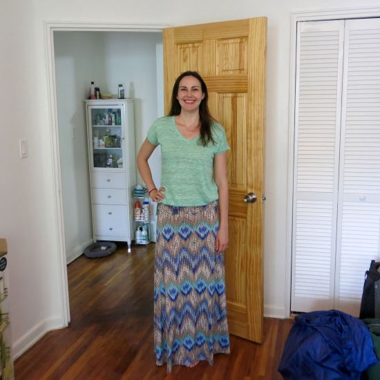 Papermoon Morena V-Neck Tee and Gilli Alina Maxi Skirt - Stitch Fix