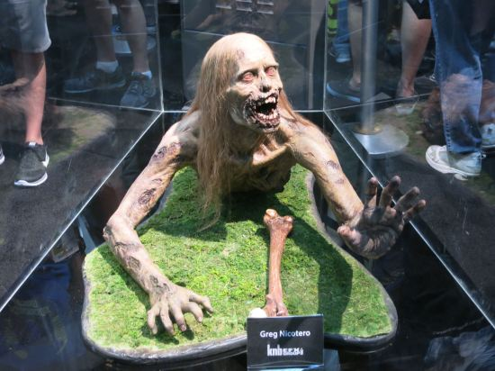 Zombie torso created by Greg Nicotero for The Walking Dead pilot.