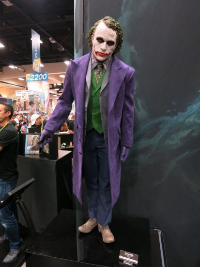 Heath Ledger Joker: this one was almost life sized.