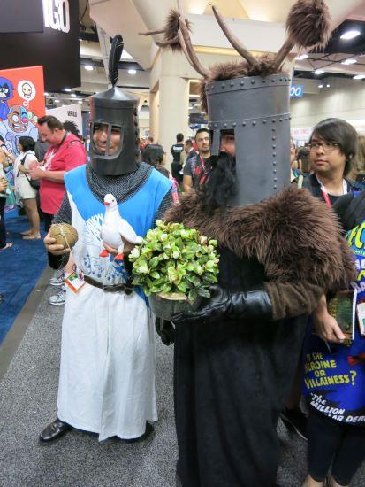 Monty Python cosplayers.