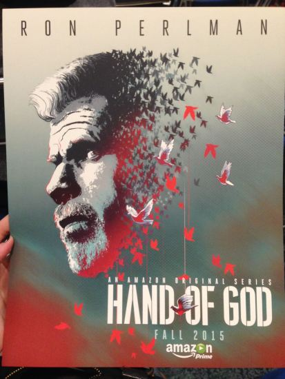 Hand of God poster given to all panel attendees. Very nice artwork.