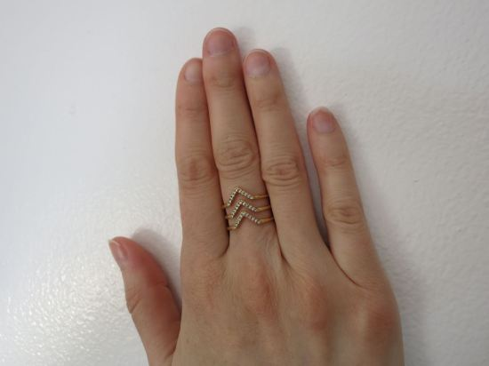 Pavé Chevron Ring - Stella & Dot