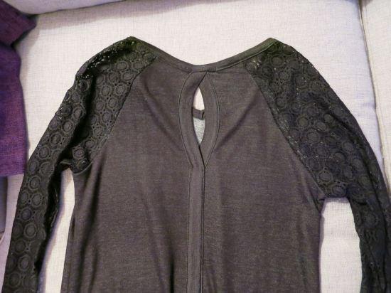 Loveappella Nerbi Long Sleeve Lace Keyhole Back Knit Top Back Detail - Stitch Fix