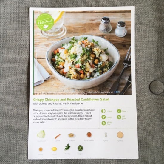 Crispy Chickpea and Roasted Cauliflower Salad with Quinoa and Roasted Garlic Vinaigrette - HelloFresh