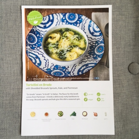 Tortellini en Brodo with Shreddded Brussels Sprouts, Kale, and Parmesan - HelloFresh