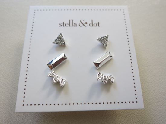 Aurora Stud Pack in Silver - Stella & Dot