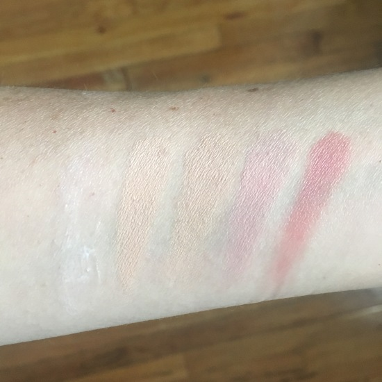 Vapour Organic Beauty sample swatches