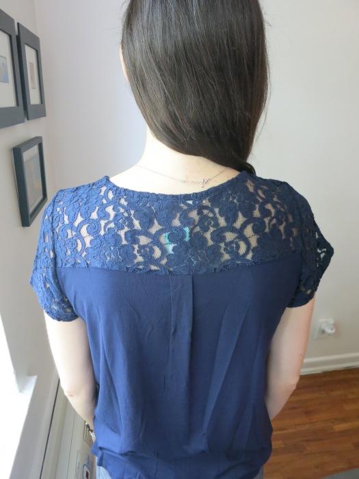 Le Lis Lavania Lace Knit Top back detail | Stitch Fix
