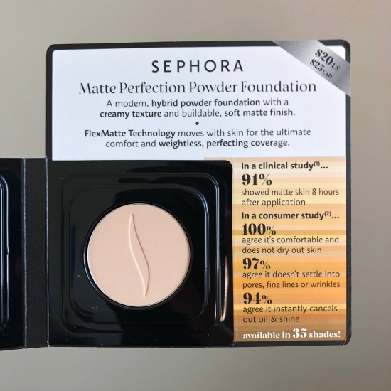 Sephora Collection Matte Perfection Powder Foundation in Shade 14 Neutral Linen | Play! by Sephora