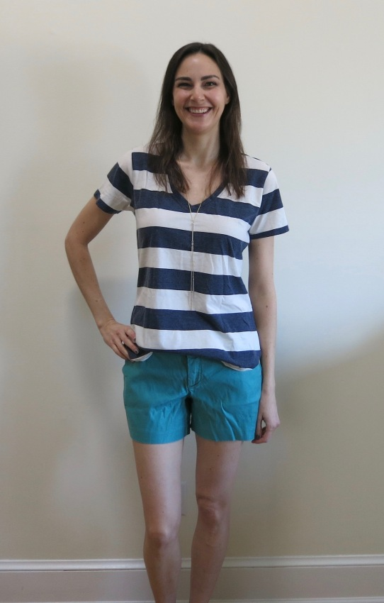 Level 99 Cindie Linen Short and Z Supply Tamika Knit Top | Stitch Fix